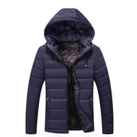 Wholesale Autumn Men s cotton Down Jacket Light Parkas Thin Coat Standing Collar Slim Clothes Male Fall winter Clothing Outwear Sports