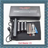 E Cig Kit de herramientas Wire Winder Enrollamiento Vape Master V3 Caja de bobina Kit V3 Winder 6 EN 1 Herramientas de DIY expertos para RDA RBA RTA de alta calidad DHL libre