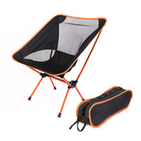 Wholesale Chair One Compact Folding Camp Chair Black Orange Moon Chair