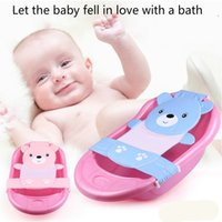 Wholesale High Quality Baby Adjustable Bath Seat Bathing Bath Tub Seat Bath Safety Security Seat Baby Safety Net Blue Pink M