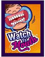 Wholesale 52pcs Party Game Board Game Watch Ya Mouth Game cards mouthopeners Family Edition Hilarious Mouth Guard