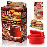 Wholesale Protable Hamburger Stufz Stuffed Burger BBQ Grill Sealed Patty Press Silicone Maker Juicy Christmas Kitchen Tool OOA983