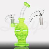 alcohol types - Heady Big beaker glass bongs no alcohol washing fab egg bongs original Fluorescent green What pipe recycler bongs oil rig