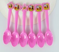 Wholesale st FLowers Theme Party Plastic Knives Forks Spoons Birthday Christmas Festival Party Decoration Supplies