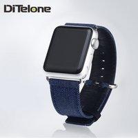 Wholesale DiTelone Jean Watchbands For Apple Watch Loop Strap Link Bracelet Sports Band Blue mm mm Bracelet