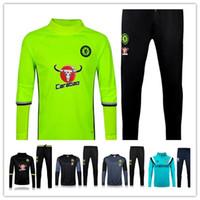 Wholesale 2016 Chelsea Training Suits Chandal training suit Uniforms shirts Chelsea Maillot de Foot Survetement Football Tracksuit Sports pants