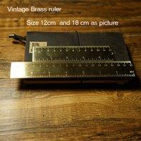 Wholesale Vintage Brass ruler bookmarker in travelers journal notebook school supplies bookmarker cm and cm vintage bookmarker ruler