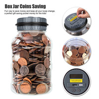 jar banks - Electronic Liquid Crystal Computer LCD Display Preserves Safe Digital Counting Coin Bank Money Saving Box Jar Bank