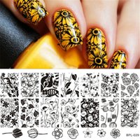 Wholesale BP L029 Flower Theme Nail Art Stamp Template Image Plate Rctangular Stamping PLates BORN PRETTY x cm
