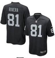 Wholesale Mychal Rivera Oakland elite JERSEY shirts size S small xl