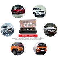 Wholesale 4 Inch E260 Car HUD Head Up Display Fault Alarm Code Elimination V Car OBDII OBD2 Diagnostic tool Engine Speedometer Fuel
