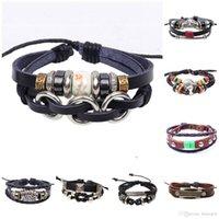Bracelet en cuir pour les femmes Bracelets pour hommes Bracelets pour hommes Bracelets à la main en corde tressée Infinity
