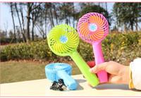 venda por atacado mini fan-Handy usb ventilador dobrável Handle mini carregamento elétrico ventiladores Snowflake Handheld portátil para casa escritório presentes