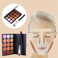Wholesale New Colors Contour Face Cream Makeup Party Concealer Palette Brush Hot Selling