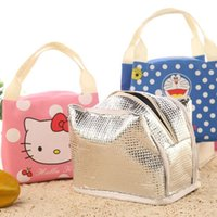 baby breakfast - 2016 Hot selling multi functional lunch bag korea lovely picnic bag zip breakfast bag hello ketty baby style