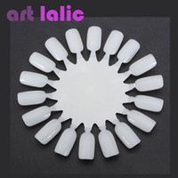 Wholesale x Nail Art Tips Make Up Practice Round Wheel Polish Acrylic Display Natural