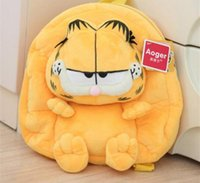 Wholesale School Plush Backpack Children Backpacks Shoulder Bag Garfield Animal Stuffed Doll D Good Quality Bags CM CM YL JFM