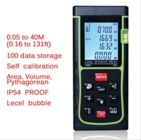 Wholesale 10 KEY m ft in Laser Distance Meter Range Finder Measure Diastimeter with Bubble Level