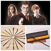 Wholesale Harry Potter Magical Wand Dumbledore Hogwarts Wand Cosplay Wands Props Hermione Voldemort Magic Wand Halloween Accessory In Gift Box D109
