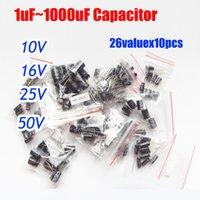 Wholesale valuesx10pcs v v v v Aluminum Electrolytic Capacitor Assortment Kit uF uF