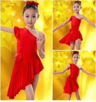 Wholesale Christmas New Children s Dress Latin dance costumes Clothing Children s Party Dress Children s Dance Clothing free shopping
