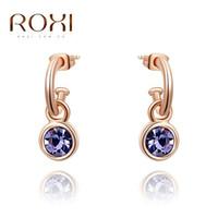 artificial gold jewellery - ROXI Brand New Women Dangle Earrings Nickel Free Artificial Jewellery Fashion Crystal Zircon Drop Earring Wedding Jewelry