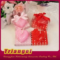 Wholesale Top Quality Wedding Favor Gifts Heart Shaped Candles For Wedding Birthday Christmas Party Decoration