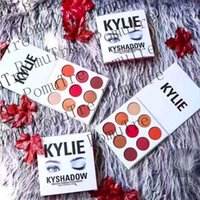 Wholesale Dropshipping new arrival THE BURGUNDY PALETTE Kylie Cosmetics Jenner Kyshadow eye shadow Kit Eyeshadow Palette Bronze Cosmetic Colors