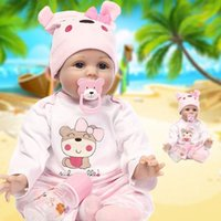 Wholesale Reborn Baby Dolls Inch Soft Silicone Baby Dolls Lifelike Realistic Cute Newborn Baby Alive Doll Toy Kids Gift free DHL