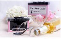 Wedding   Creative Bride High Heel Shoe Design Wine Bottle Opener For Birthday Bridal Shower Wedding baptism Party Favor Gift Boxed