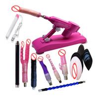 Wholesale New Pink Color Automatic Adjustable Speed Sex Machine Gun with Big Black Dildo for Women Female Masturbation Love Fucking Machines