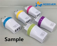 Wholesale Sample Wall Charger USB USB V A Travel Charger Phone Charger Fast Charging for iPhone Galaxy S5 S7