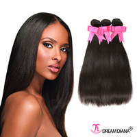 Wholesale Cheap Brazilian Human Hair Bundles Straight Hair Weaves Wet And Wavy Human Hair Dyeable A Great Quality