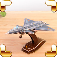 Military air force decorations - New Year Gift J J B D Puzzles Model Plane Air Force Military Machine Decoration Paper Puzzle Educational Toys DIY Game