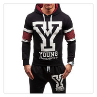 Wholesale Tracksuit for Men Spring autumn Hoodies pants Brand Hoodies Slim Fit Mens Set of Head Hoody US Size S XXL