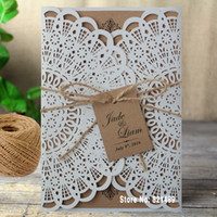 Wholesale Rustic Wedding Invitation Bridal Showe Invitation Cards Custom Printing Wedding Invitation Cards