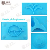 anti slip plates - Anti slip silicone baby mat plate placemat food grade standard one piece rectangle EZPZ silicone placemat for kids