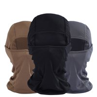 Wholesale Quick Drying Summer Cycling Motorcycle Balaclava Headwear Paintball Hood Ski Neck Protecting Outdoor Full Face Mask Freeshipping
