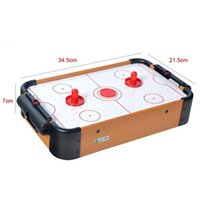 Wholesale Mini Air Hockey Game Table Battery Operated Battery Not Include Pushers Picks For Children Toy