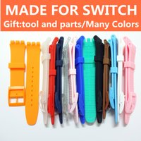 Wholesale Premium watch band for Swatch candy Silicone mm strap with plastic buckle