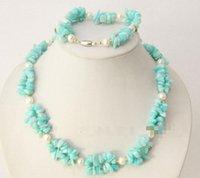 Precio de Chip stone bracelet-Envío libre ¡Caliente! ¡¡¡encantador!!! Muchos color pueden elegir la pulsera hermosa del collar de las piedras de la viruta del jade de las perlas blancas 2strands (wkya10)