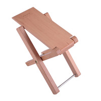 Wholesale Guitar Wood Pedal Guitar Foot Rest Professional Handicraft Antiskid Folding Wood Footstool Pedal Natural wood