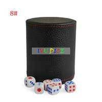Wholesale Casino PU leather Bar Dice Cup Game Props Whiskey Shaker Cocktail Set KTV Party Pub Night Club drinking Beer Toy Cup IVU