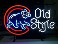 beer glass styles - Chicago Cubs OLD Style Baseball REAL GLASS TUBE NEON LIGHT BEER BAR PUB SIGN Billiards Signboards