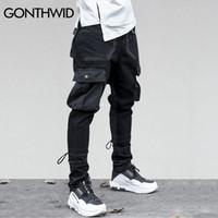 fd5bdf1c6820 GONTHWID Side Pockets Harem Pants Mens Hip Hop Patchwork Cargo Ripped Sweatpants  Joggers Trousers Male Fashion Full Length Pants