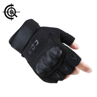 CQB Cycling Gloves Outdoor Riding Sports Camping Wear Non-slip Men Gloves Tactical Equipment Half Finger Hiking Gloves Athletic & Outdoor