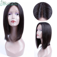Wholesale human hair wigs - Brazilian Straight Human Hair Silky Straight Density Plucked Natural Hairline Remy Hair wigs Human hair Lace Wigs Price