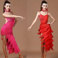 costumes cha cha dance tassel sequin fringe women ballroom competition  dresses sexy womens latin dress dancing tango for adults 70f9d8090