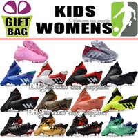Women Kids Soccer Shoes Trainers Laceless Predator 18 FG Football Boots  High Ankle Outdoor Boys X 17.1 Purechaos FG Soccer Cleats Size 35-39 e26c89423de