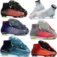 Wholesale mercurial superfly - New Soccer Cleats Ronaldo Mercurial Superfly CR7 V FG ACC Football Shoes Neymar Soccer Shoes Kids Youth Womens Mens Magista Football Boots